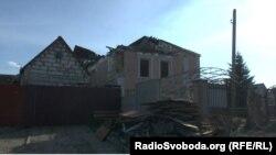 Разрушенный дом в Металлисте