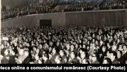 Consfătuirea pe ţară a cadrelor din domeniul ştiinţelor sociale şi învăţământului de partid şi UTC. Sala Palatului RSR (6 octombrie 1976). Fototeca online a comunismului românesc; cota:253/1976