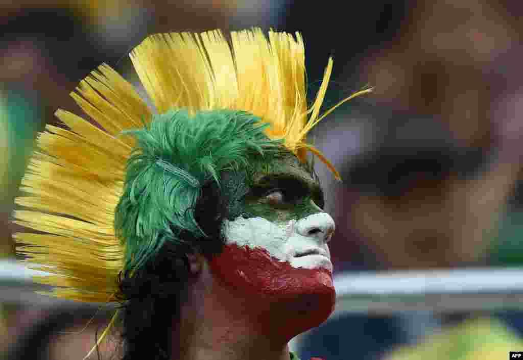 یکی از هواداران ایران در ورزشگاه