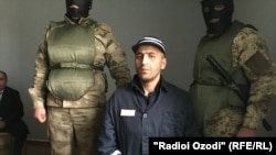 Husein Abdusamadov, the lone survivor of five terrorists who killed a group of Western cyclists in Tajikistan in July 2018 (file photo)