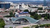 Georgia -- Bridge. Town. View. Tbilisi, 16Jul2018