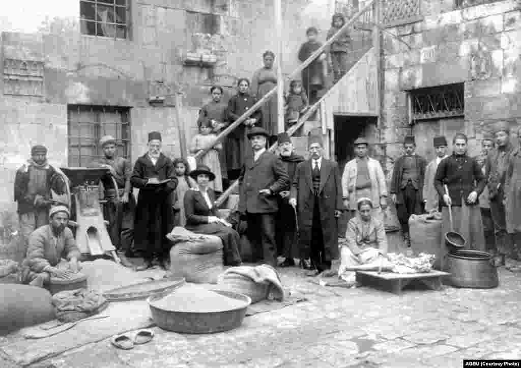 The courtyard of Aleppo's Armenian orphanage (undated)