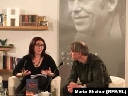 Зустріч з Марсі Шор у Празі в бібліотеці Вацлава Гавела. Модератор – письменник Яхим Тополь
