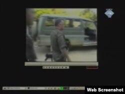 Insert iz snimka sa Ratkom Mladićem u Potočarima