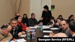 """Сегодня в Тбилиси оппозиционная партия """"Национальный форум"""" и несколько правозащитных неправительственных организаций призвали правоохранительные органы освободить представителя этой партии Каху Чакветадзе"""
