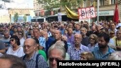 1968 жылғы совет оккупациясының 50 жылдығын еске алу шарасы. Прага, 21 тамыз 2018 жыл