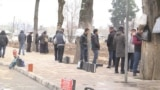 Корҷӯён дар мардикорбозори шаҳри Душанбе