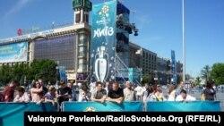 Përgatitjet për Kampionatit Euro 2012 në Kiev të Ukrainës.