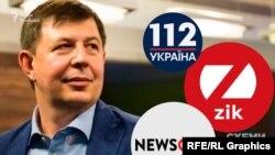 Тарас Козак зібрав медіа-колекцію з інформаційних телеканалів – 112 каналу, NewsOne та Zik