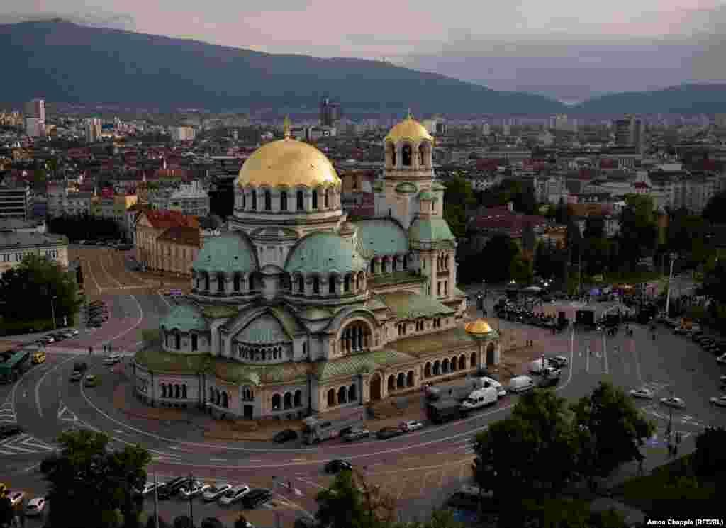 София, Болгария. Кафедральный собор Святого Александра Невского.