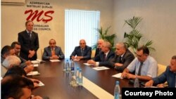 Али Гасанов на встрече с представителями печатных с Совете по прессе, Баку, 30 июня 2012