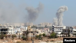 Qyteti i Aleppos në Siri, i përfshirë në luftime