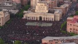 Протесты в Ереване с высоты: десятки тысяч людей на центральной площади (видео)