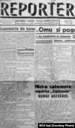Fascicol al ziarului Reporter