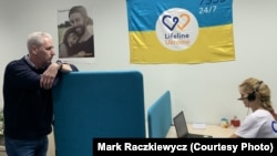 Paul Niland, the founder and director of Lifeline Ukraine in Kyiv. Over the U.S. Thanksgiving holiday, the American of Chamber of Commerce in Ukraine recognized Niland with its annual achievement award for creating the help line.