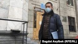 Активист Альнур Ильяшев 22 апреля 2021 года в Алматы