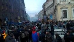 Разгон демонстрации в Петербурге