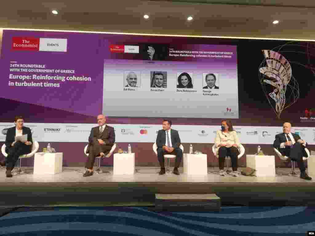 ГРЦИЈА / СЕВЕРНА МАКЕДОНИЈА - Се чувствувам како да е исполнување на мојот сон, да дојдам во Атина да разговарам за бизнис, да разговарам за соработка, да разговарам за споделување на искуства, рече денеска македонскиот премиер Зоран Заев ан панел дискусијата посветена на Западен Балкан во рамките на конференцијата на Економист. Заев денеска имаше средба и со неговиот грчки колега Кирјакос Мицотакис.