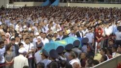 Hundreds Mourn Kazakh Police Officers Killed By Gunman