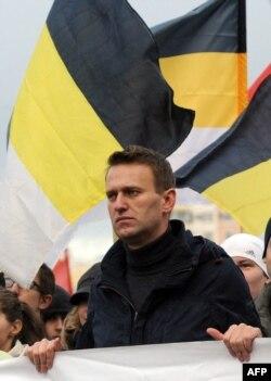 """Алексей Навальный на """"Русском марше"""" 4 ноября 2011 года"""