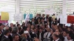 د پاکستان وکیلانو د کوټې برید ضد احتجاجي لاریون کړی