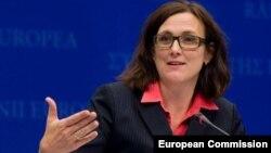 Еврокомесарката за внатрешни работи Сесилија Малмстром