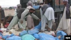 آرشیف، چرس ضبط شده در افغانستان