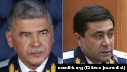Бывший глава СГБ Ихтиёр Абдуллаев (слева) и экс-генпрокурор Узбекистана Отабек Муродов.
