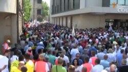 Prosvjed radnika u Sarajevu