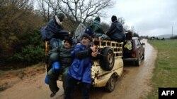 Prizor zabeležen u blizini mesta Idomeni, 15. mart 2016.