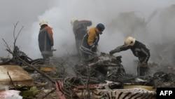 После крушения Boeing-747 в селе Дачи-СУ. 16 января 2017 года.