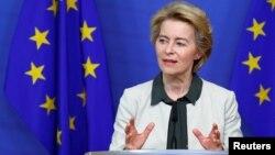 Predsednica Evropske komisije Ursula fon der Lajen