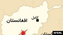 Карта Афганистана. Кандагар отмечен на ней как место частых терактов