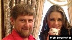 Ramzan Kadyrov və Elizabeth Hurley