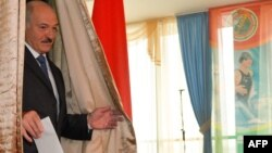 Аляксандар Лукашэнка на выбарах, 2016 год