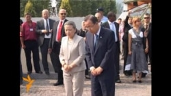 UN Chief Visits Srebrenica Memorial