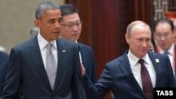 Китай. Владимир Путин и Барак Обама на форуме АТЭС в Пекине. 11.11.2014