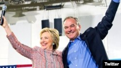 Hillary Clinton və Tim Kaine