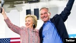 Хиллари Клинтон и Тим Кейн