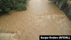 Река Ак-Буура после дождя. Архивное фото.
