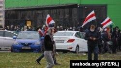 Марш у адным з раёнаў Менску 22 лістапада
