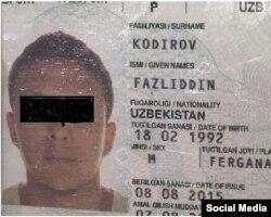 Рус ОАВида эълон қилган Фазлиддин Қодиров паспорти