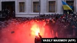 Столкновения в Киеве. 1 декабря