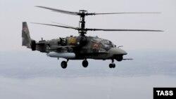 "Kamov Ka-52 ""Alligator"" helikopteri (Foto arxivdəndir)"
