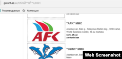 «Gilan Holding»in saytından web-screenshot