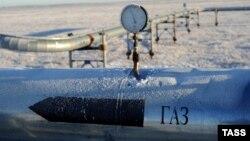 Газопровод на территории Ямало-Ненецкого автономного округа России.