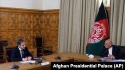 вганистан-Државниот секретар на Соединетите Американски Држави Ентони Блинкен и авганистанскиот претседател Ашраф Гани, 15.04.2021