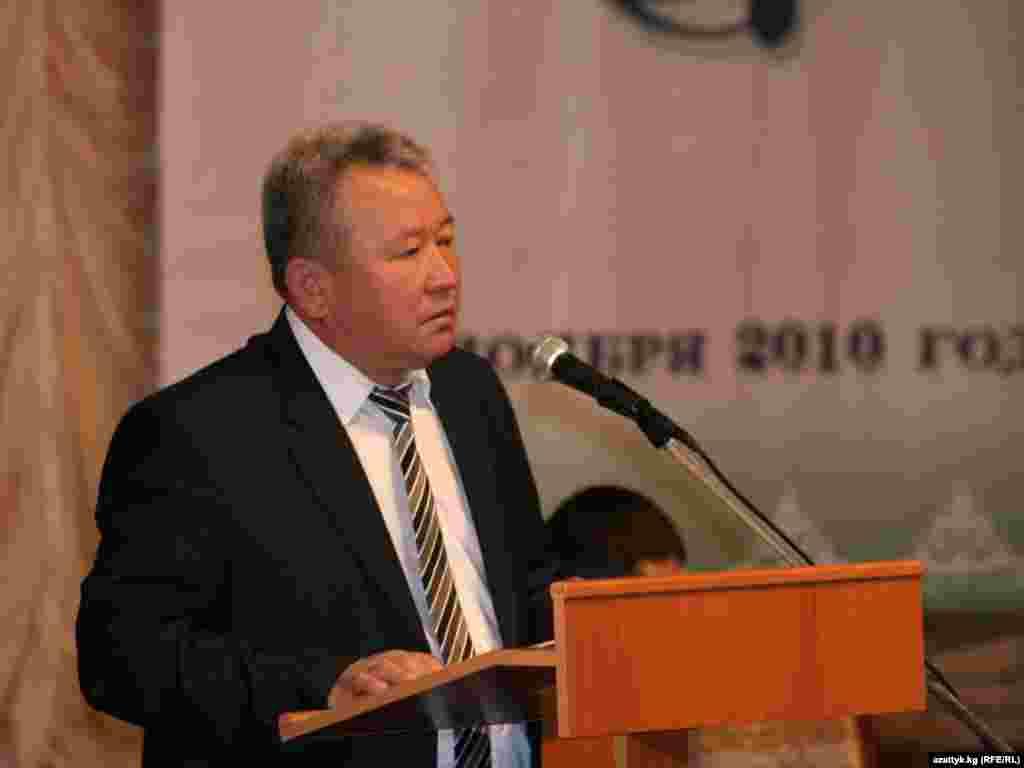 Канатбек Садыков, министр образования и науки.