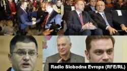 Zoran Živković, Saša Janković, Dragan Đilas, Boris Tadić, Vuk Jeremić, Dragan Šutanovac i Borislav Stefanović