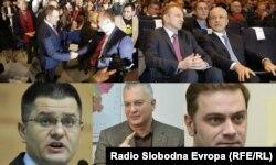 Stefanović: Građani traže isključivo da se opozicija objedini( Foto: Dragan Đilas, Saša Janković, Vuk Jeremić, Boris Tadić, Zoran Živković i Borislav Stefanović